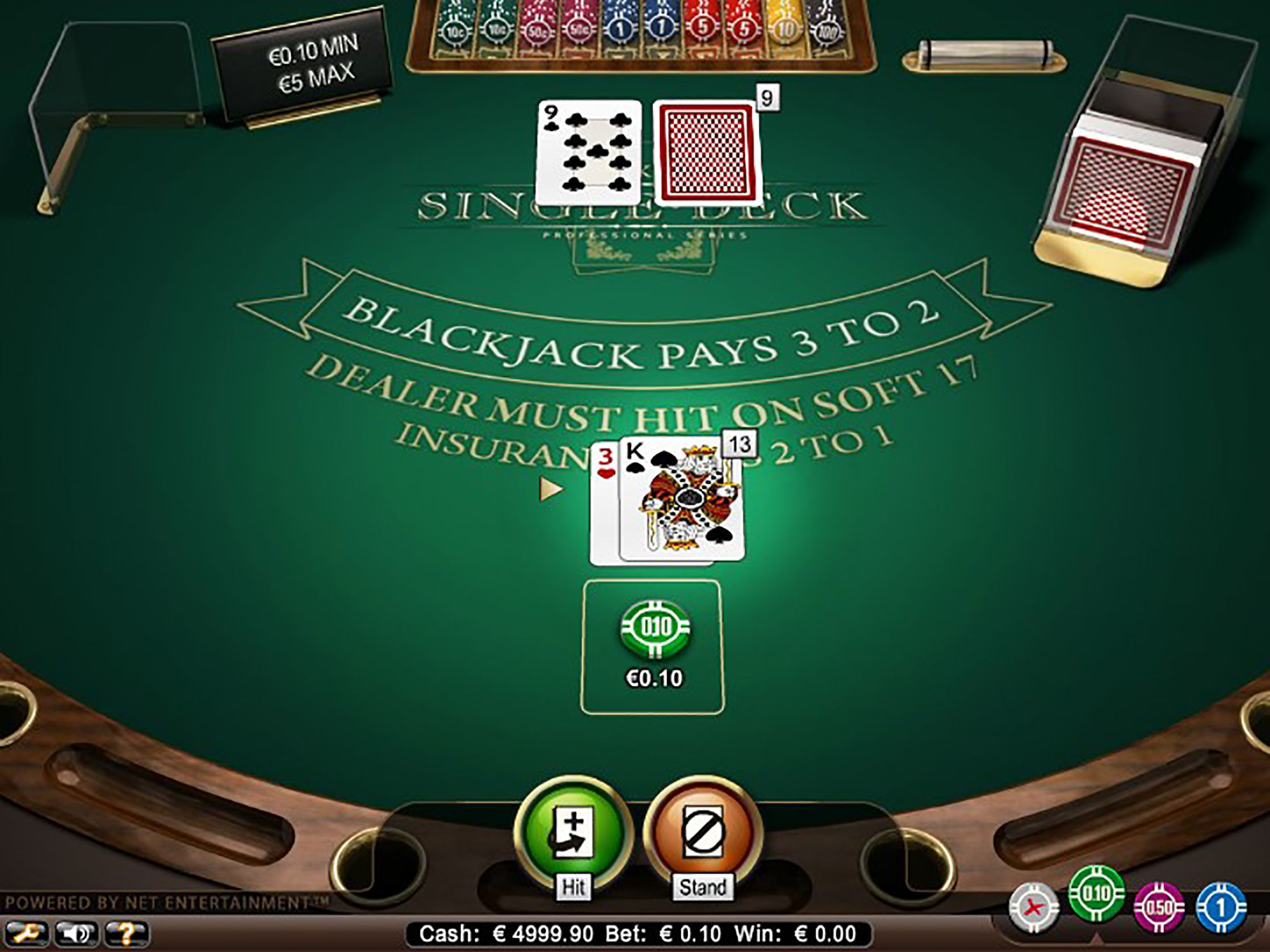 Single Deck Blackjack Pro Low Limit game image